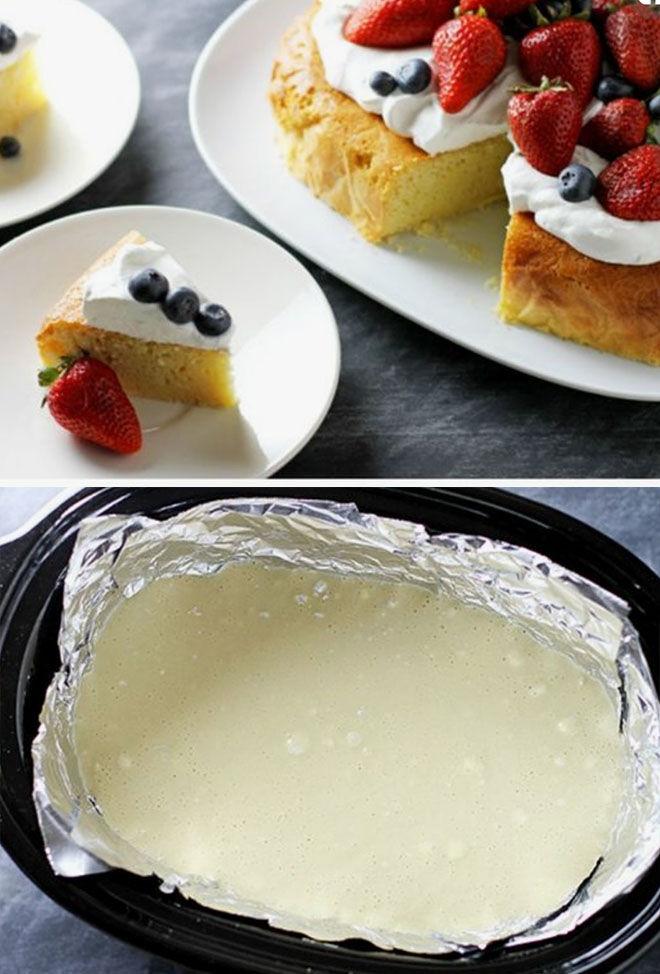 Slow Cooker Pancake Cake