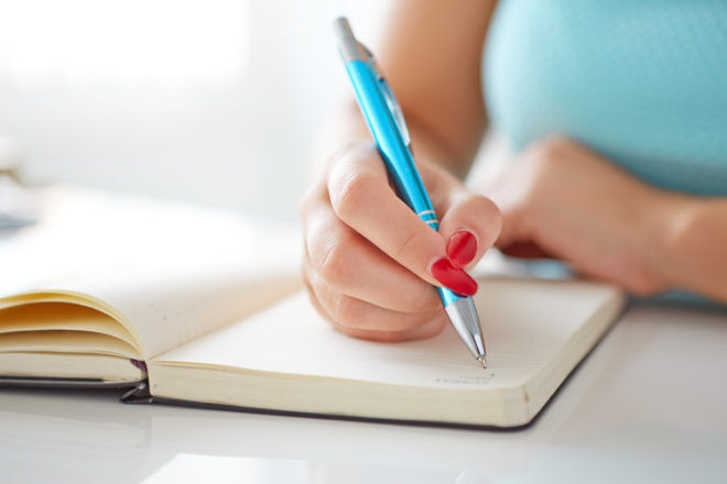 Writting a to do list