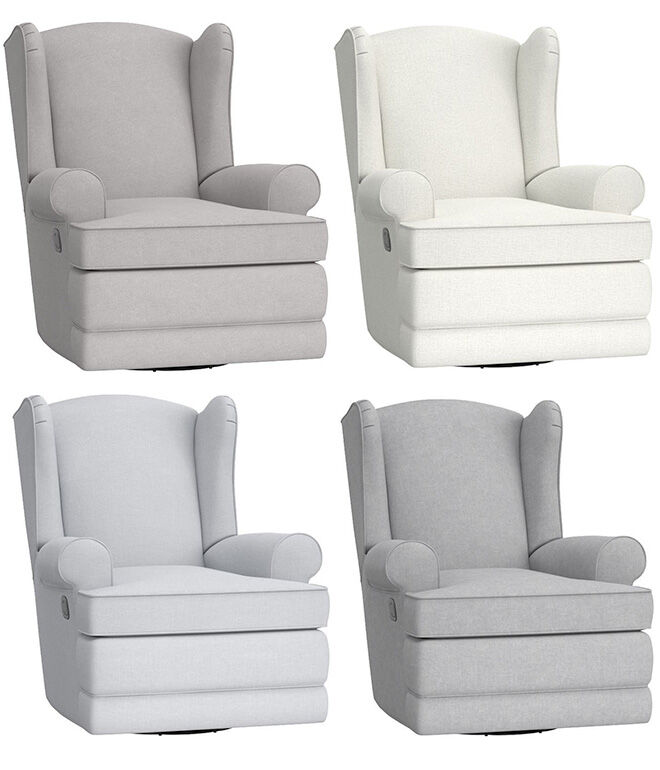 Pottery barn kids wingback glider recliner nursing chair colours