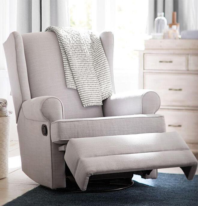 Pottery barn kids wingback glider recliner nursing chair