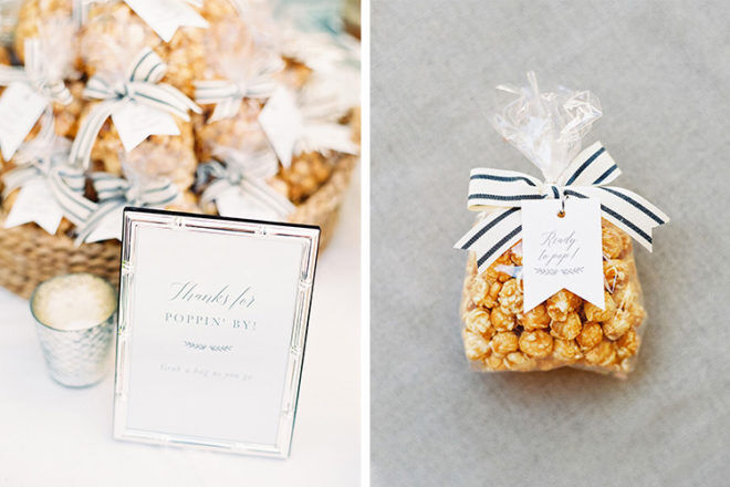 baby shower favour popcorn