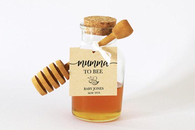 baby shower favour honey jar