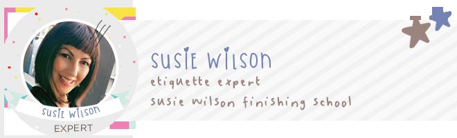 Susie Wilson etiquette expert