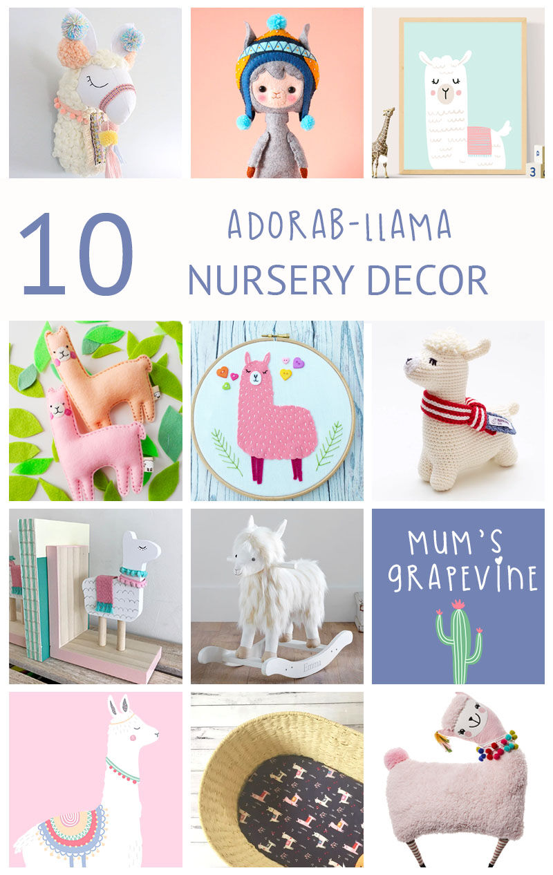 10 adora-llama nursery decor