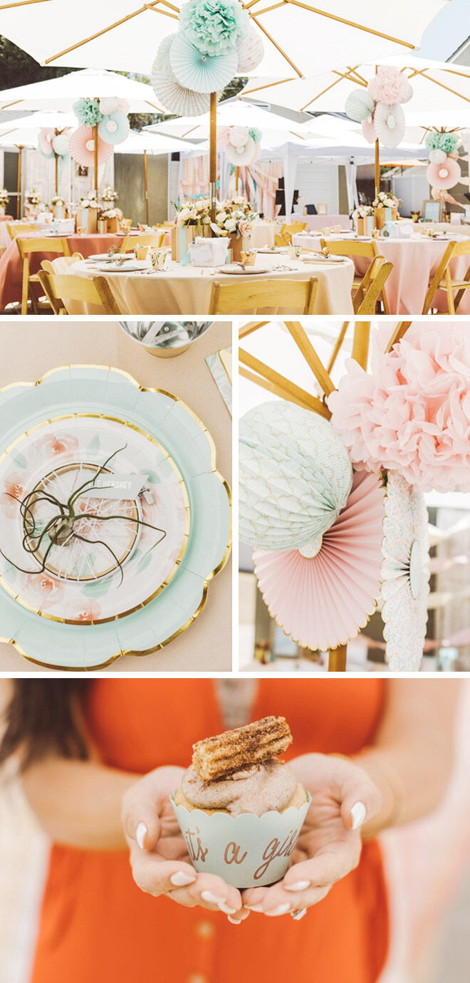 Mint to be baby shower ideas