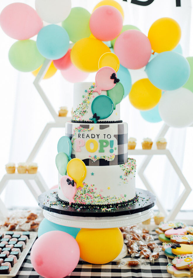 Ready to pop baby shower theme