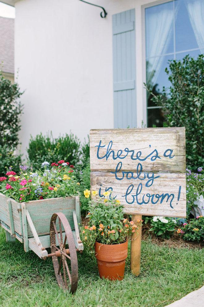 Garden baby shower theme