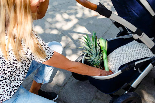 Joolz Geo2 pram comes with a big storage basket that's great for trips to the shops