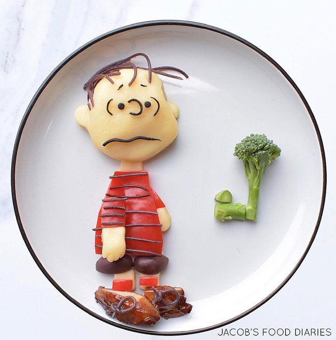 Linus Peanuts mash and veggies: Jacobs Food Diary