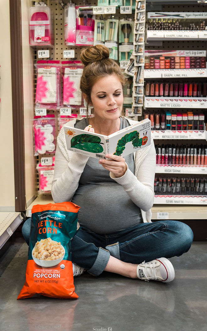 Maternity photo shoot pregnancy cravings