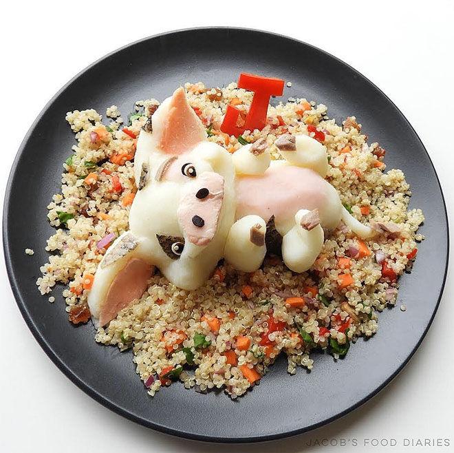 Moana salmon and quinoa: Jacobs Food Diary