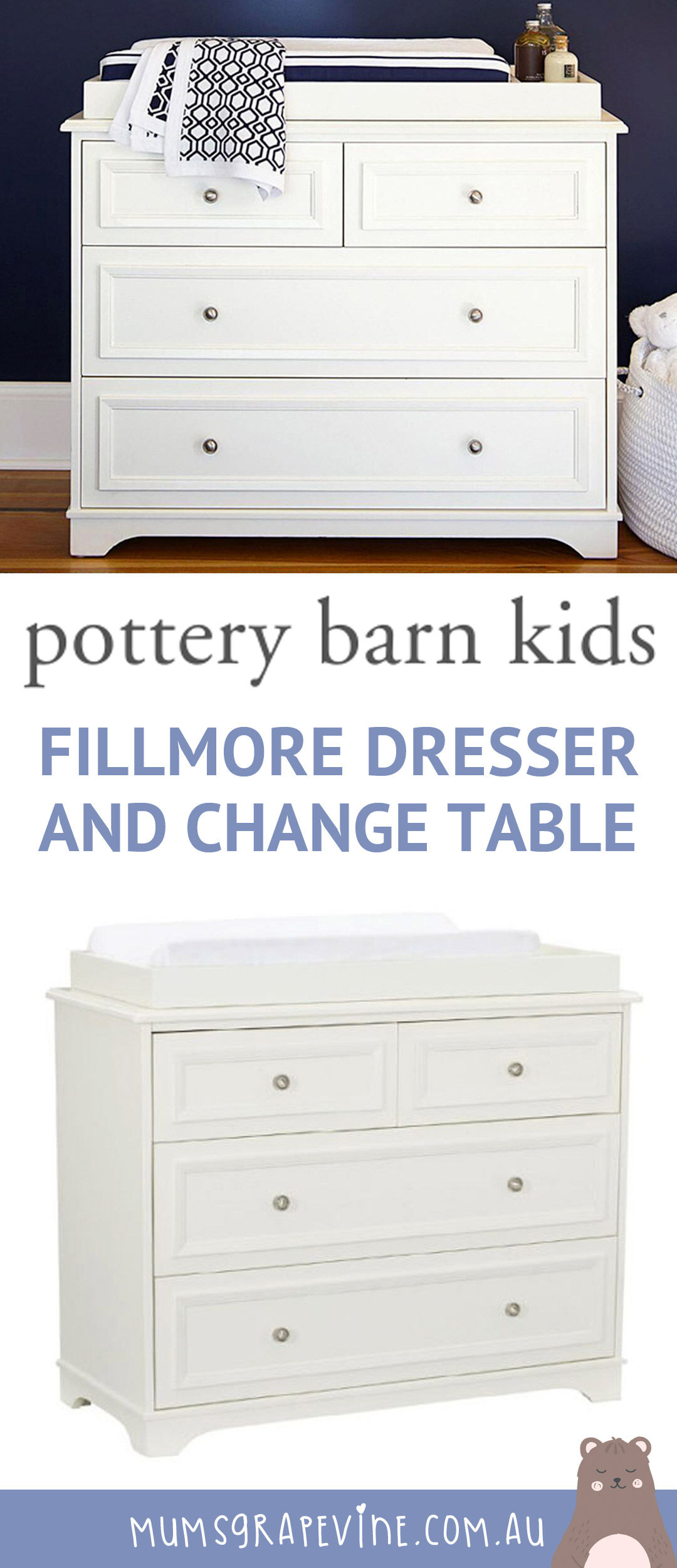 Pottery Barn Kids Fillmore dresser and change table