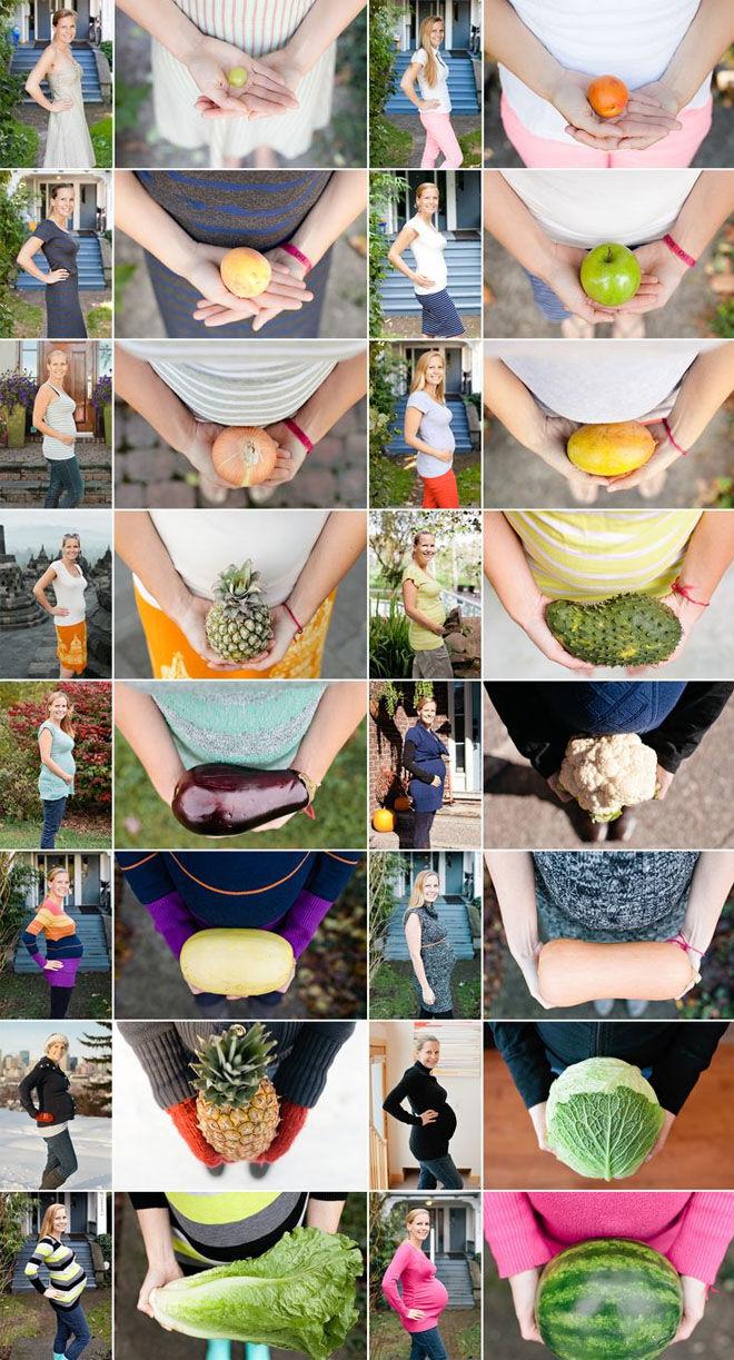 Pregnancy week by week photos with fruit