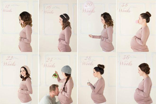 Pregnancy week by week photo ideas