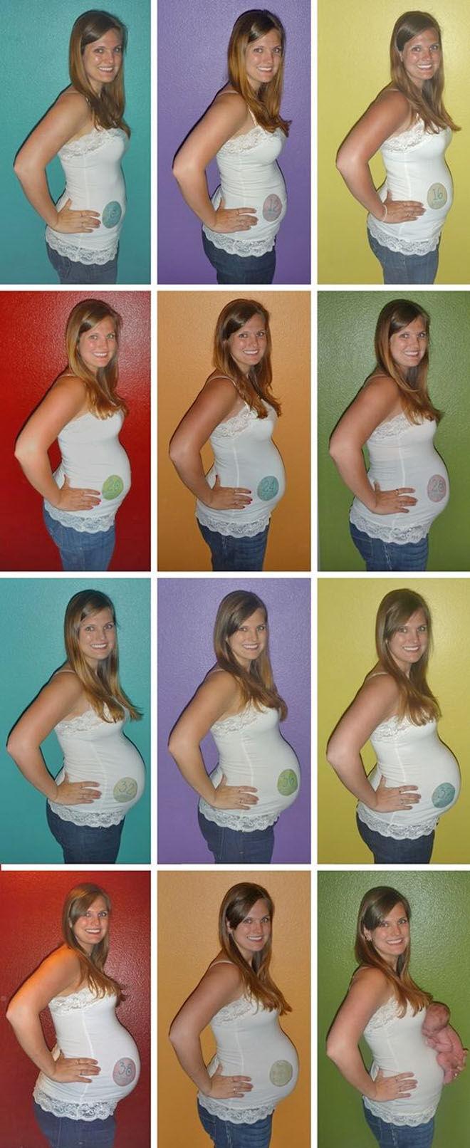 Rainbow pregnancy timeline photos