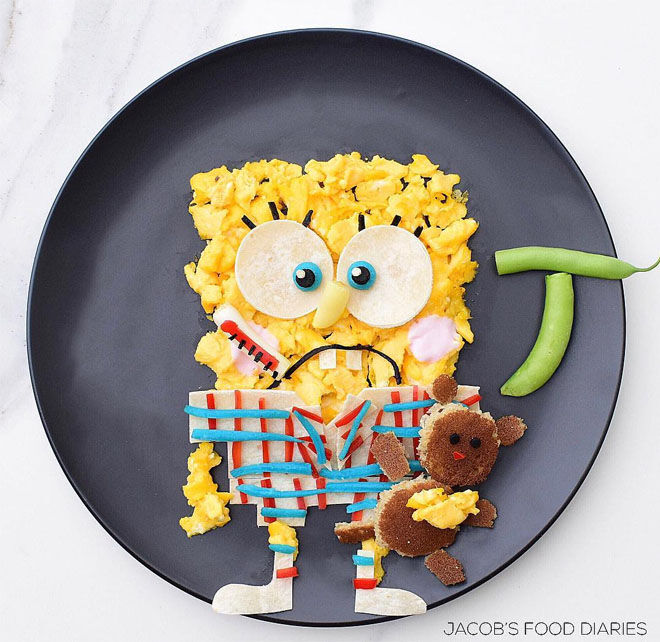 Spongebob scrambled eggs: Jacobs Food Diary