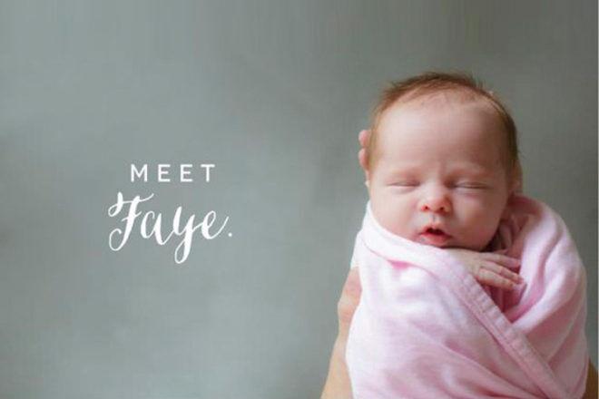 Unique baby birth announcements