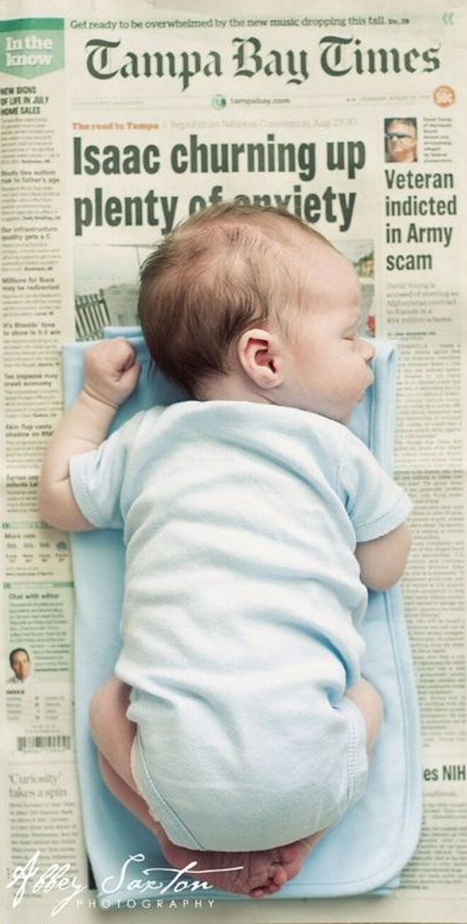 Unique baby birth announcements newspaper