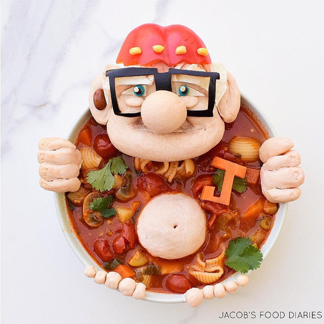 Up movie minestrone creation: Jacobs Food Diary