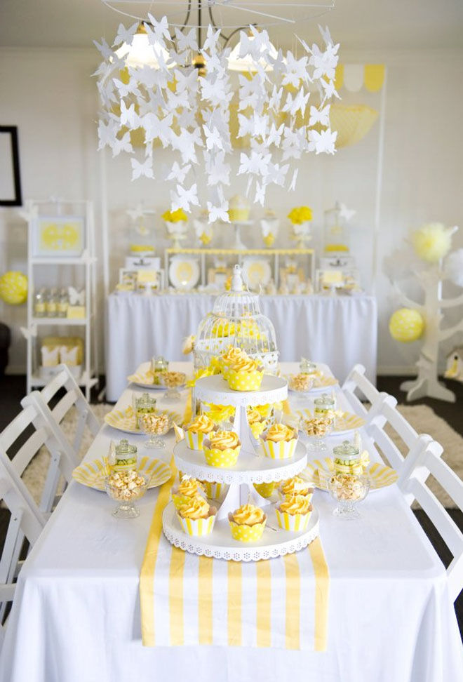 Yellow sunshine baby shower