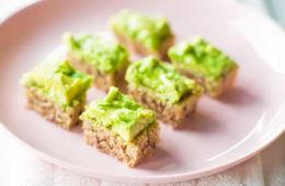 Avocado toast slices, baby finger food