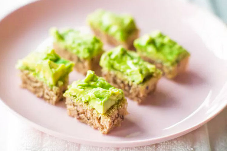Avocado toast slices, baby finger food