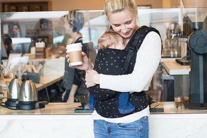 Baby wearing and baby carriers after a c-section
