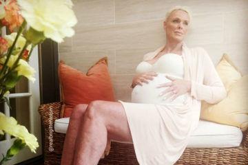 Brigitte Nielsen pregnant