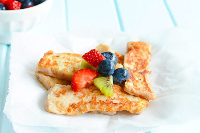 Banana french toast for baby