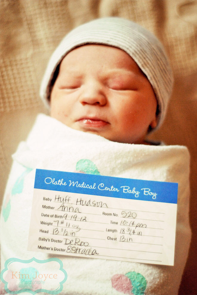 Hospital birth card photo