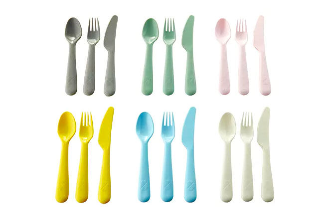 New IKEA KALAS pastel cutlery