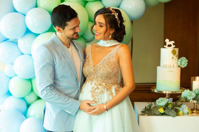 MKRu0027s Zana Pali And Gianni Romanou0027s Pastel Baby Shower At The Langham  Melbourne