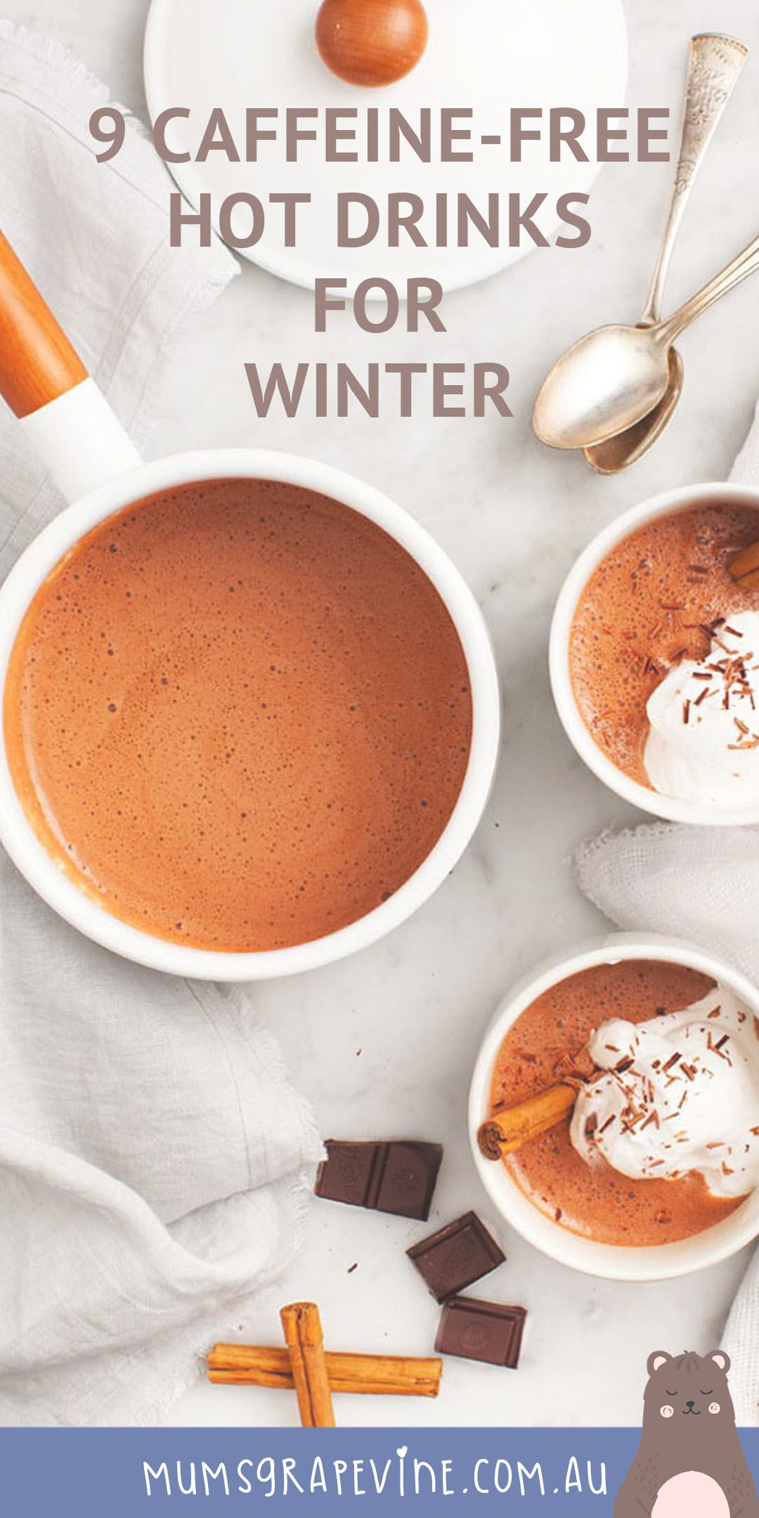Caffeine-free hot drinks for winter