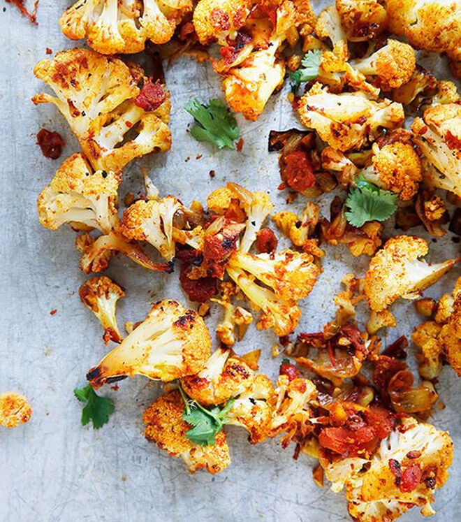 Spice roasted cauliflower for kids
