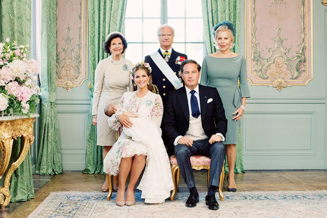 Royal family of Sweden baptism photos
