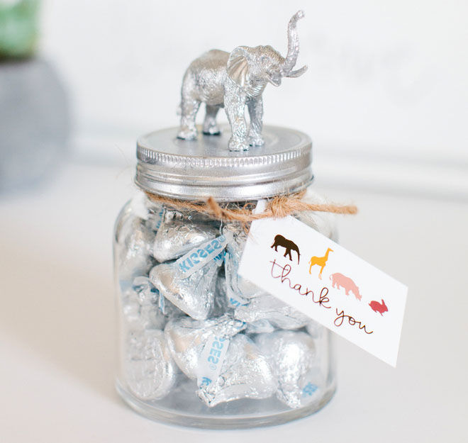 Safari baby shower favours