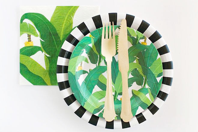 Safari baby shower tableware from Paper Eskimo