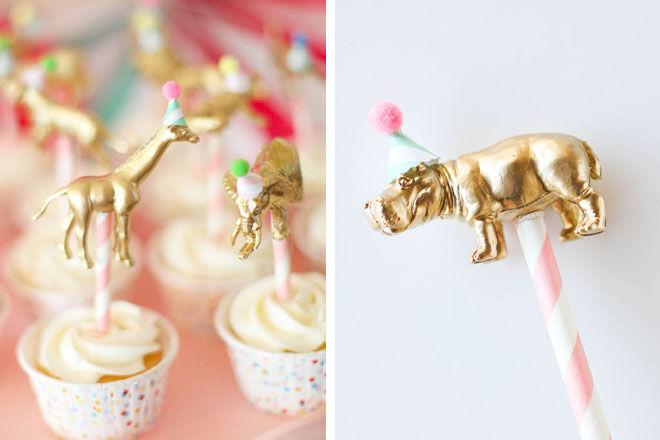 Safari baby shower cake topper DIY