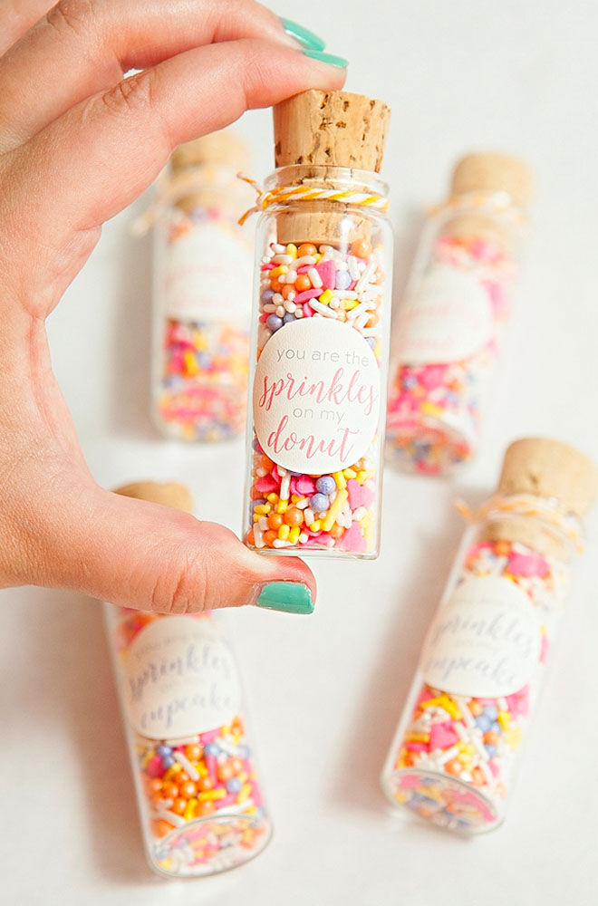 Confetti baby shower party favours