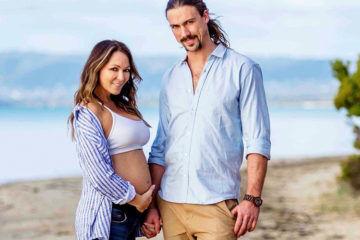 Tania Zaette pregnant with twins