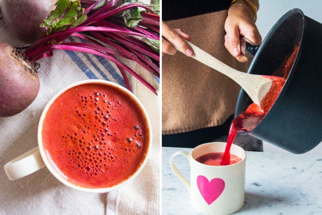 Warm beetroot juice