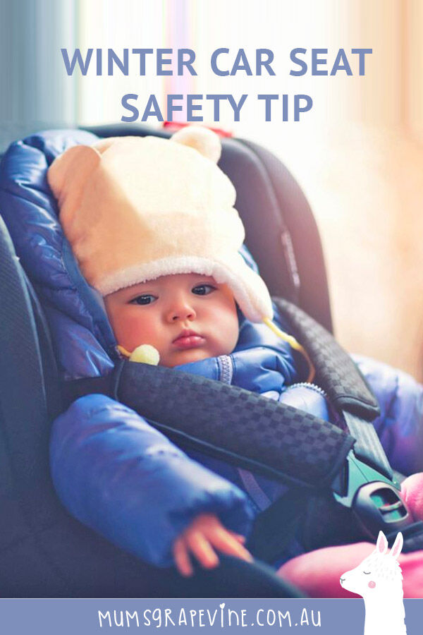 Car Seat safety tip winter coats