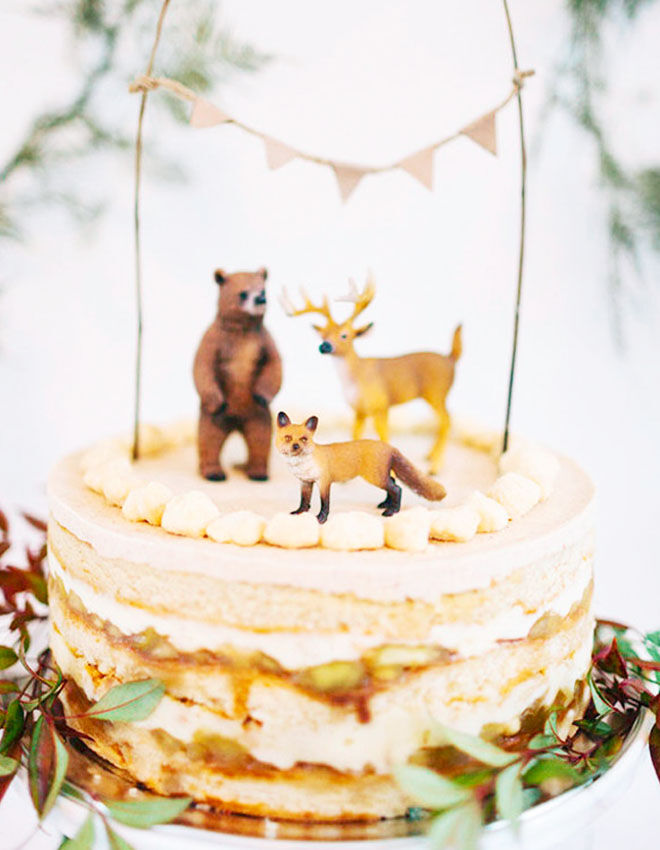 Woodland baby shower cake, 100 Layer Cakelet