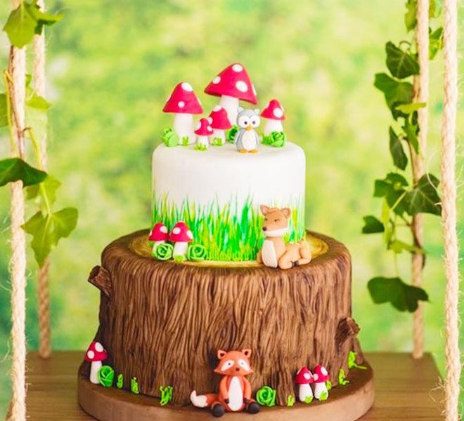 Toadstool and woodland baby shower cake, Blog lovin