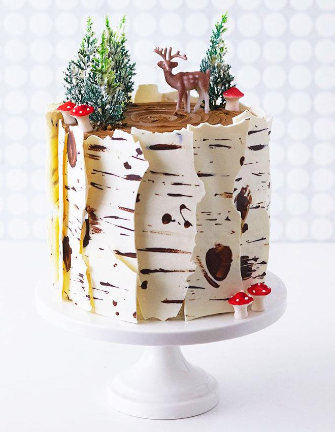 Winter woodland baby shower cake, Cake Girls