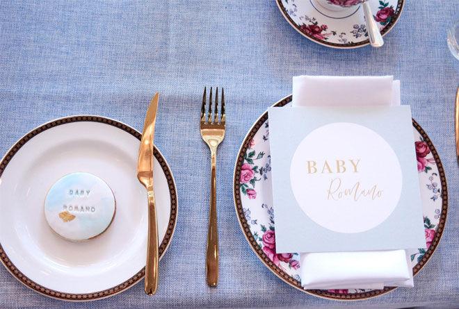 Zana Pali baby shower table setting
