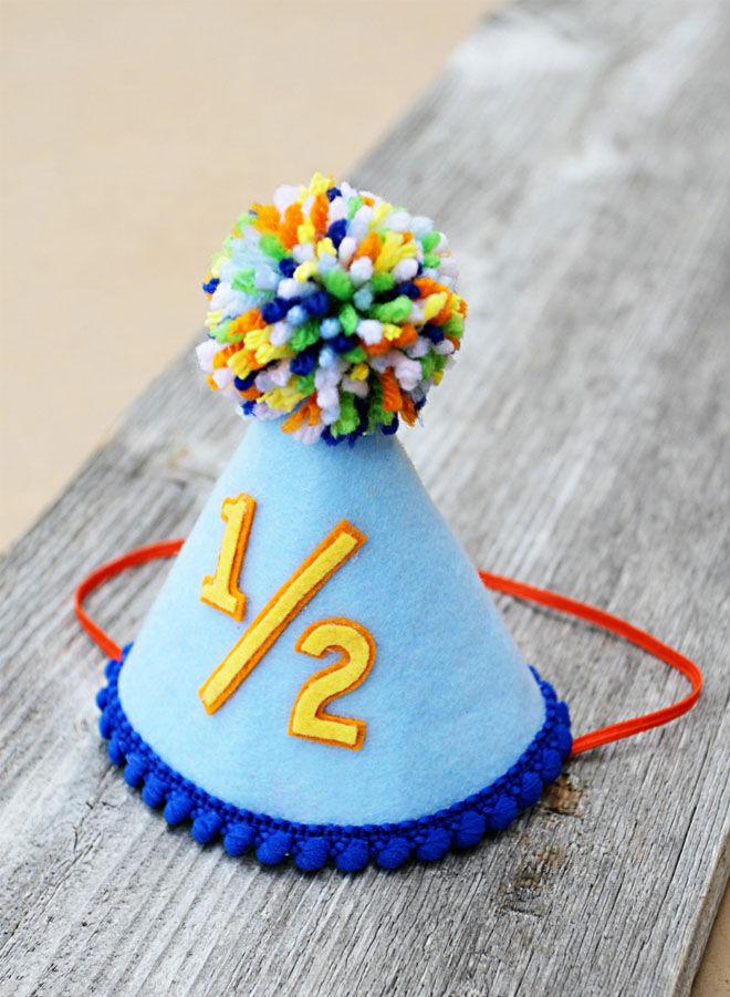 Six Month Half Birthday Hat