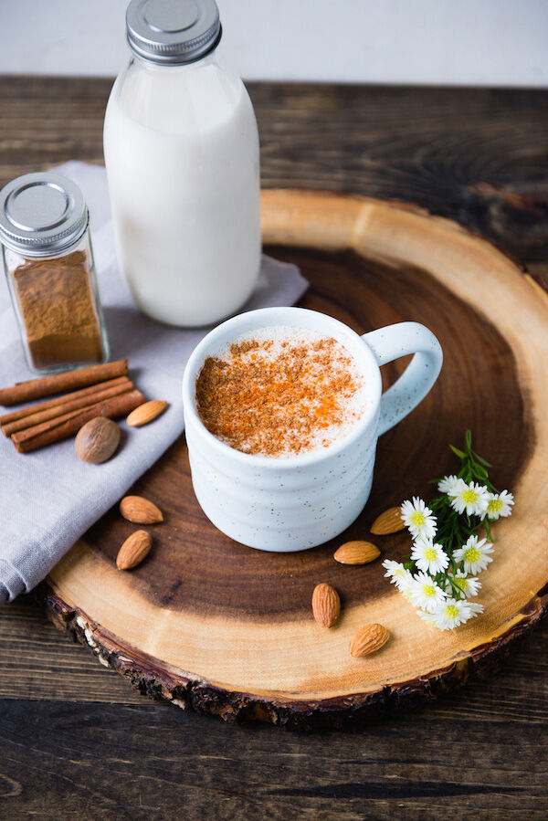 Spiced Hot Almond Milk Drink