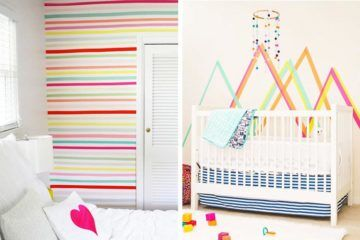 Decorating nursery walls with washi tape