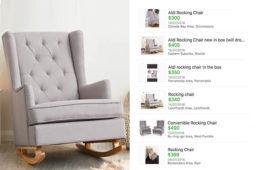 Aldi nursery chairs resold